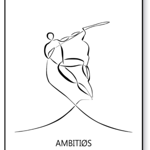 Ambitiøs – AEArt plakat
