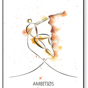 Ambitiøs i farve – AEArt plakat
