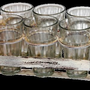 Glasholder med 6 drikkeglas