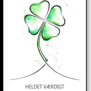 Heldet værdigt i farve – AEArt plakat