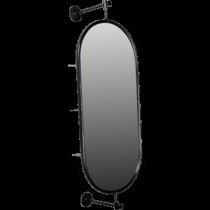 Drejbar spejl med hylder