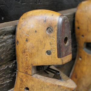 Rustikke træ læster til knagerække – 3 kroge