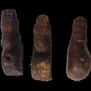 Gamle indiske træfigurer – hestehoveder