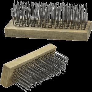 Dekorativ træklods med børster