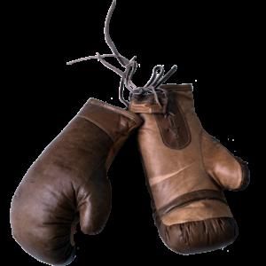 Boksehandsker med et råt udtryk – brun