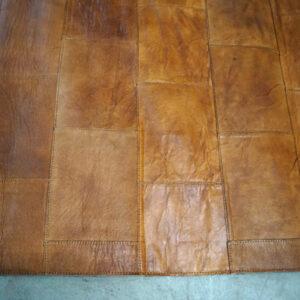 Lædertæppe – brun