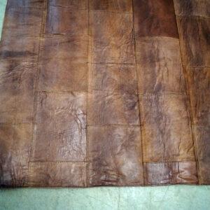 Lædertæppe – mørk brun