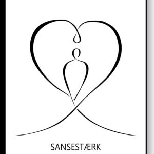 Sansestærk – AEArt plakat