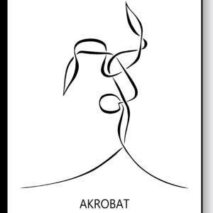 Akrobat – AEArt plakat