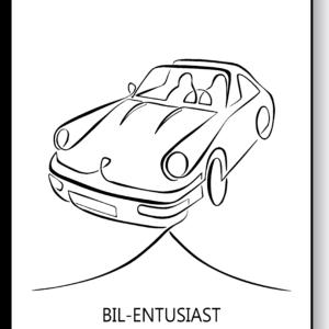 Bil-entusiast – AEArt plakat