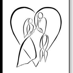 Bryllup – AEArt plakat